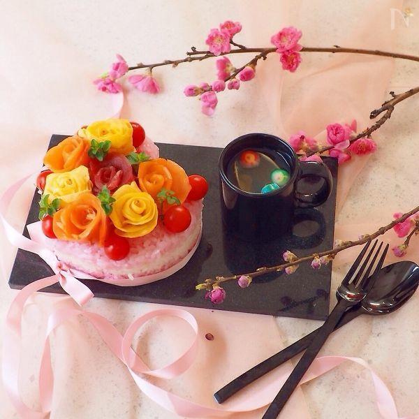 バラのお寿司